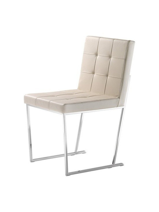 Cattelan Italia - Cattelan Italia   Kate Chair - Made in Italy by Cattelan Italia.Fits into any room like a glove, the Kate Chair is the ideal choice for your dining room. Crafted from a chrome base in a unique design, its seat and back feature a luxurious square quilted design. It is the perfect combination of Italian design and workmanship. Select from a variety of frame colors and leather options to customize this modern dining chair. The Kate Chair is sure to be the perfect addition to your modern living space, and is also available in an armchair.