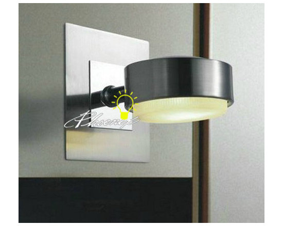 FIAM Nickel and glass Wall Sconce in Brushed Nickel Finish - FIAM Nickel and glass Wall Sconce in Brushed Nickel Finish
