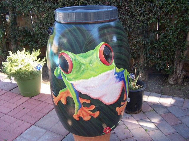 Rain Barrels Tropical San Diego By Rain Barrel Artist