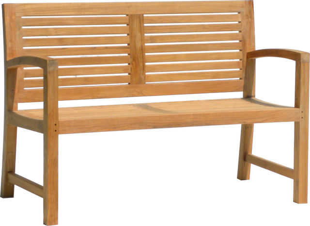 5' SOLID TEAK OUTDOOR BENCH - FROM THE AQUA HORIZON COLLECTION asian-outdoor-benches