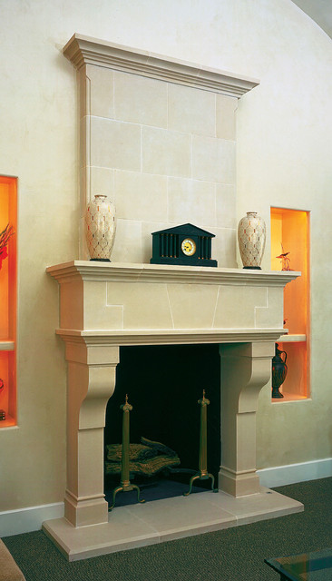 Tuscan Cast Stone Fireplace Mantel Traditional Indoor