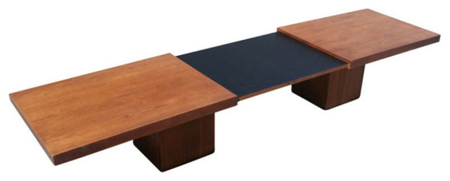 John Keal Adjustable Cocktail Table - $3,600 Est. Retail - $2,599 on Chairish.co contemporary-coffee-tables