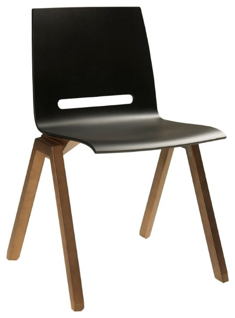 Forum Dining Chair Black modern dining chairs and benches