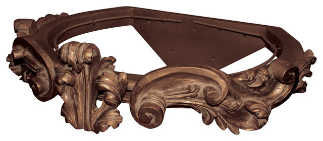 Belvedere Corona, French Silver Leaf traditional-beds