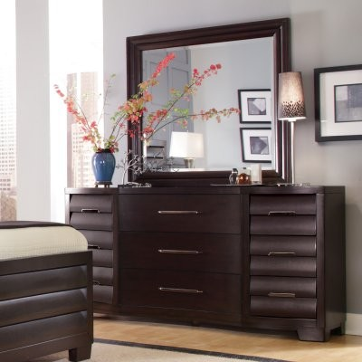 330 tangerine 9 drawer dresser with optional mirror