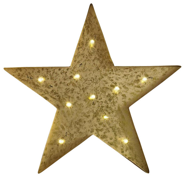 Lit Star Metal Wall Art Contemporary Wall Decor By