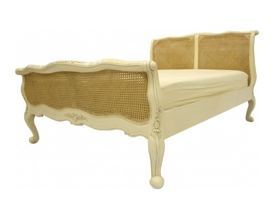 Chichi Furniture Exclusives. - An exquisite French king size rattan bed. Featuring simple lines and beautifully carved scroll ends and a gorgeous classic rattan finish on the headboard and foot board, this bed will add such charm to your room.