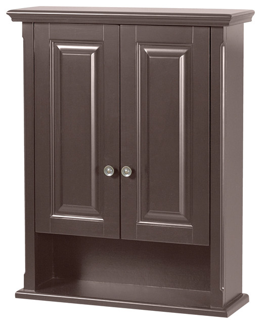 Palermo espresso bathroom wall cabinet contemporary medicine cabinets for Espresso bathroom medicine cabinet