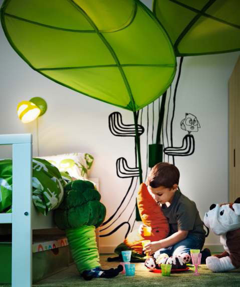 Ikea Lova Leaf Childrens Kids Bed Canopy Tent