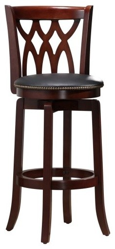 Boraam Cathedral 29 in. Swivel Bar Stool - Dark Cherry contemporary-bar-stools-and-counter-stools