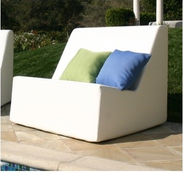 Check armless lounge chair modern outdoor chaise for Armless chaise longue