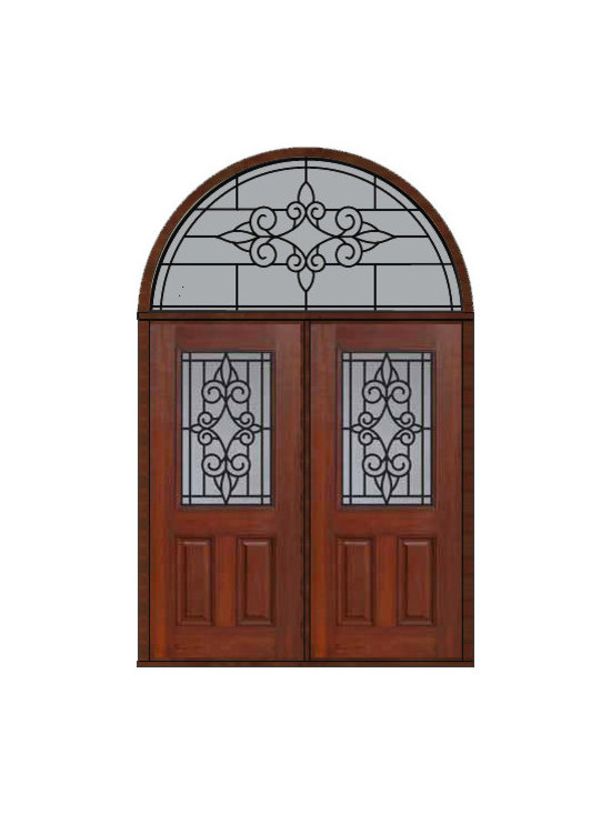 "Prehung Transom Double Door 80 Fiberglass Salento 1/2 Lite GBG Glass - SKU#    MCT012WSA_DFHSAG2-HRSAGBrand    GlassCraftDoor Type    ExteriorManufacturer Collection    1/2 Lite Entry DoorsDoor Model    SalentoDoor Material    FiberglassWoodgrain    Veneer    Price    3925Door Size Options    2(36"")[6'-0""]  $0Core Type    Door Style    Door Lite Style    1/2 LiteDoor Panel Style    2 PanelHome Style Matching    Door Construction    Prehanging Options    PrehungPrehung Configuration    Double Door and Half Round TransomDoor Thickness (Inches)    1.75Glass Thickness (Inches)    Glass Type    Double GlazedGlass Caming    Glass Features    Tempered glassGlass Style    Glass Texture    Glass Obscurity    Door Features    Door Approvals    Energy Star , TCEQ , Wind-load Rated , AMD , NFRC-IG , IRC , NFRC-Safety GlassDoor Finishes    Door Accessories    Weight (lbs)    876Crating Size    36"" (w)x 108"" (l)x 89"" (h)Lead Time    Slab Doors: 7 Business DaysPrehung:14 Business DaysPrefinished, PreHung:21 Business DaysWarranty    Five (5) years limited warranty for the Fiberglass FinishThree (3) years limited warranty for MasterGrain Door Panel"
