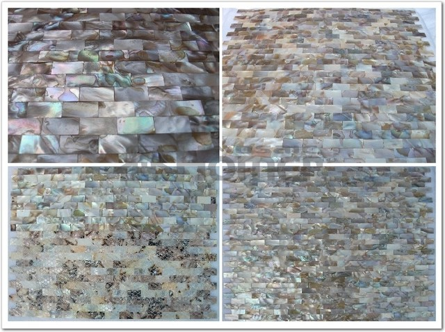 """free shipping, groutless seamless mother of pearl mosaic tiles 12x12"""" modern"""