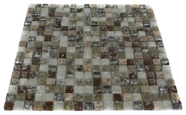 ALLOY WEATHERED LEATHER 1/2 X 1/2 Glass and Marble Tile modern bathroom tile