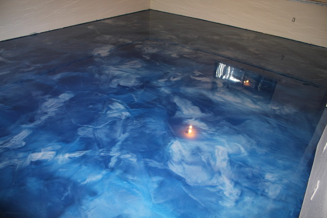Metallic Epoxy Basement Floor - Contemporary - seattle - by Seattle Surfaces
