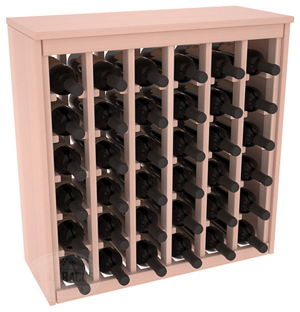 36 Bottle Deluxe Wine Rack in Redwood with White Wash Stain + Satin Finish contemporary-wine-racks