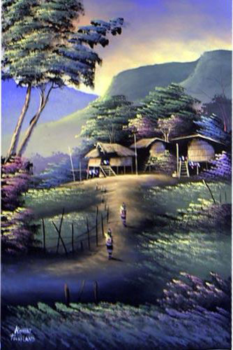 Blissful Day Oriental Painting asian-artwork