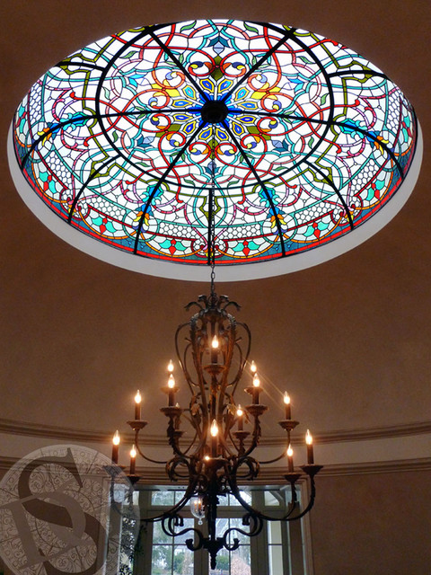 Leaded Glass Dome traditional entry