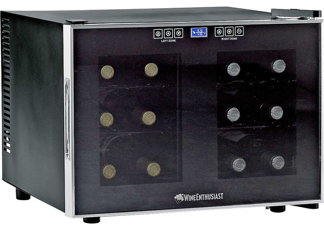 Wine Enthusiast 12-Bottle Dual-Zone Free Standing Countertop Wine Cooler contemporary-beer-and-wine-refrigerators