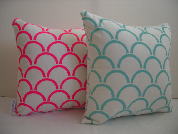 Cushion Cover Arches Design Fluro Pink by Aqua Door