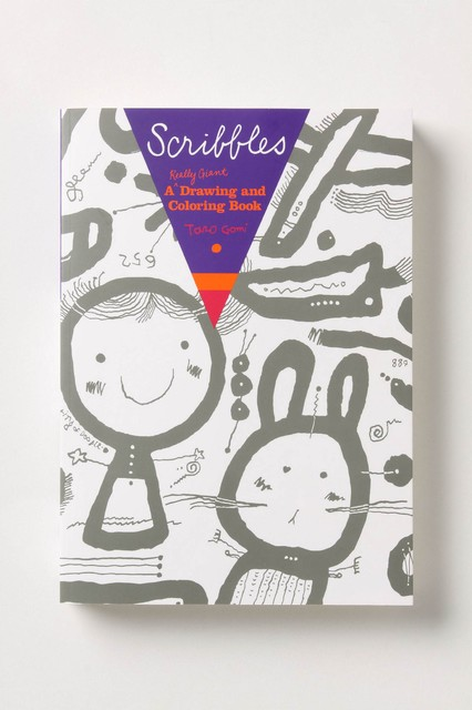 Scribbles: A Really Giant Drawing and Coloring Book contemporary-books