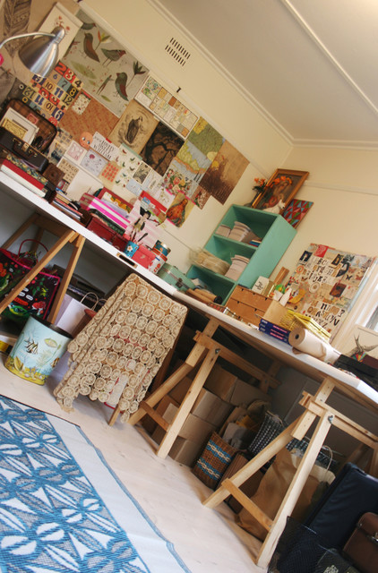 my studio space eclectic home office