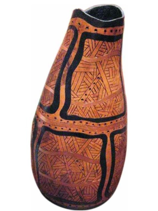 Decorative Gourd - Very unusual one of a kind , artpiece,  Sheila Satow artist,...this gourd is bronze,gold and black.