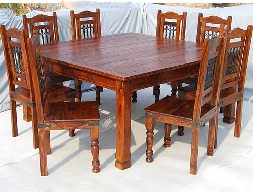 Philadelphia Maple 9 pc Square Dining Room Table and Chair Set