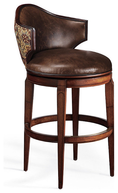 ... Low Back Swivel Bar Stool traditional-bar-stools-and-counter-stools