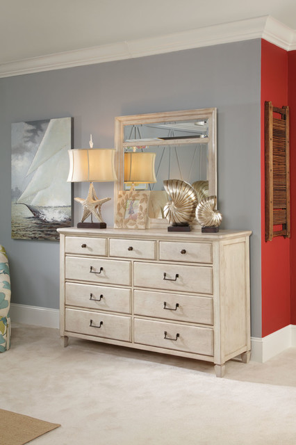 American Drew 114-130W Americana Home Drawer Dresser -Weathered White traditional-dressers-chests-and-bedroom-armoires