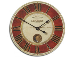 www.essentialsinside.com: s.b. chieron wall clock contemporary-wall-clocks