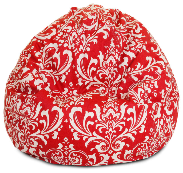 Outdoor Red French Quarter Small Bean Bag modern-chairs