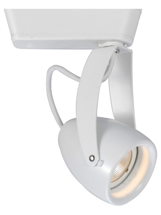"WAC - WAC Impulse 40 Degree White 12W LED Track Head for Juno - Impulse track head for Juno track systems. White finish. 40 degree beam spread. Includes integrated 12 watt LED. Light output is 951 lumens. Comparable to a 75 watt MR16 bulb. 3000K color temperature. CRI is 90. Average bulb life is 60000 hours when used 3 hours a day. Dimmable down to 10 percent with ELV dimmer. Die-cast aluminum construction. 360 degree horizontal rotation and 180 degree vertical aiming. Title 24 compliant. Free of UV and IR radiation. 6 3/4"" high. 3 1/4"" wide.  Impulse track head for Juno track systems.  White finish.  40 degree beam spread.  Includes integrated 12 watt LED.  Light output is 951 lumens.  Comparable to a 75 watt MR16 bulb.  3000K color temperature.  CRI is 90.  Average bulb life is 60000 hours when used 3 hours a day.  Dimmable down to 8% with electronic low voltage dimmer (ELV).  Die-cast aluminum construction.  360 degree horizontal rotation and 180 degree vertical aiming.  Title 24 compliant.  Free of UV and IR radiation.  6 3/4"" high.  3 1/4"" wide."