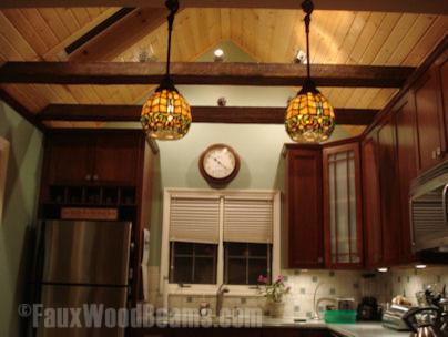 Faux Beam Kitchen rustic-kitchen