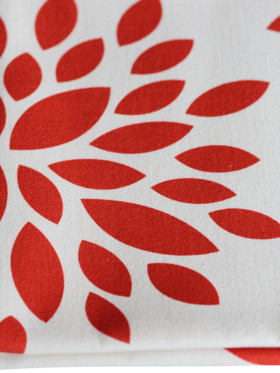 PURE Inspired Design - Dahlia Pillow, Orange/Natural, Swatch - Dahlia organic cotton canvas swatch in Orange and Natural.  All our pattern organic fabric is grown, woven, and printed in the USA.