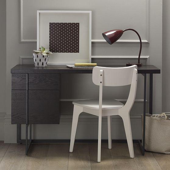 Flat-Bar Storage Desk