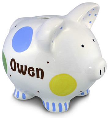 Boys confetti piggy bank modern piggy banks by rosenberry rooms - Coin banks for boys ...