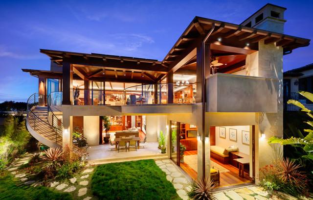 Ocean view manhattan beach home contemporary exterior for Modern home decor los angeles