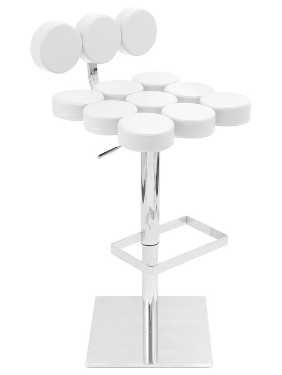 Telia Bar Stool - WHITE
