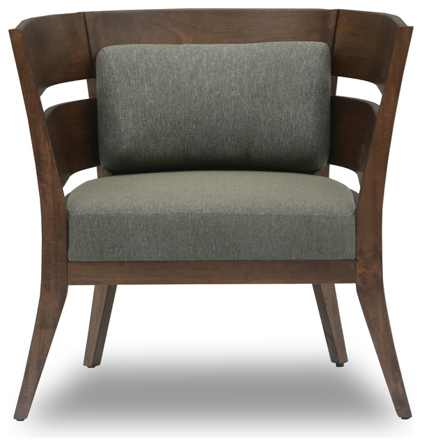 Mier Cocoa Lounge Chair Contemporary Armchairs And Accent Chairs by Bryght