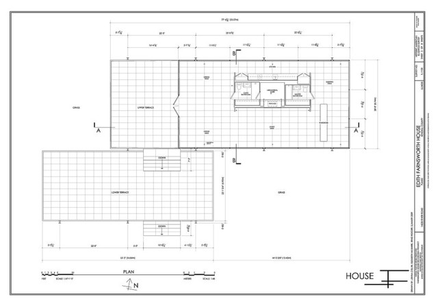 Must know moderns modern floor plan chicago for Site plan dimensions