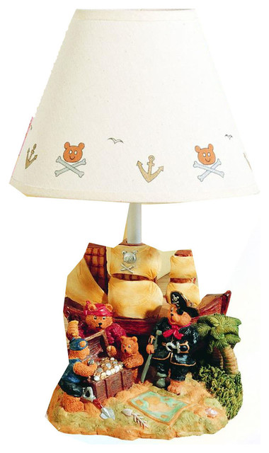 Childrens Novelty Lamp Shades : Alstead Incandescent Kids Novelty Lamp with a Classic White Fabric Shade - Contemporary - Kids ...