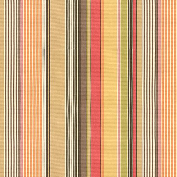 Red Orange Modern Stripe Fabric Modern Upholstery Fabric By Loom Decor