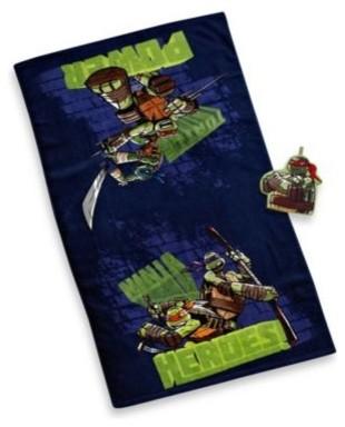 Teenage Mutant Ninja Turtles Bath Towel And Wash Mitt Set