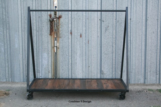 Clothing Rack, Garment Rack, Vintage Industrial/Mid Century Modern. Loft, Urban modern-clothes-racks