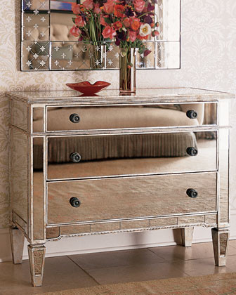 Mirrored Hall Chest tropical-dressers