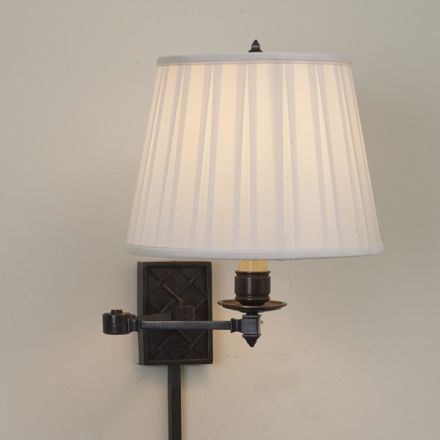 swing arm wall lamp 3 finishes swing arm wall lamps by shades. Black Bedroom Furniture Sets. Home Design Ideas