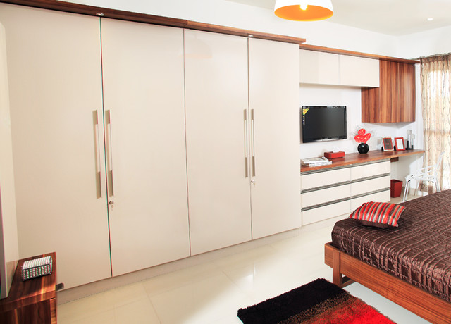 master wardrobe with study table - contemporary - bedroom - other ...