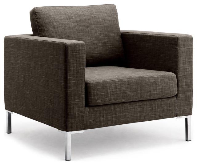 Portobello grey brown premium armchair modern for Designer armchairs