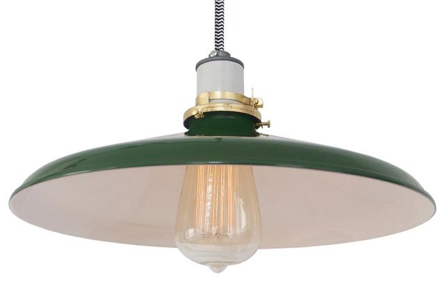 The 14-inch Mott Lamp, Black & White Cord, Pendant industrial-pendant-lighting